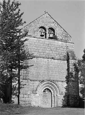 Bellechassagne, église façade ouest