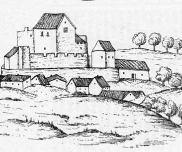 Dessin du château de Chaynat