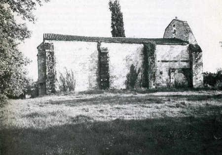 Chapelle de Chierzac, mur nord