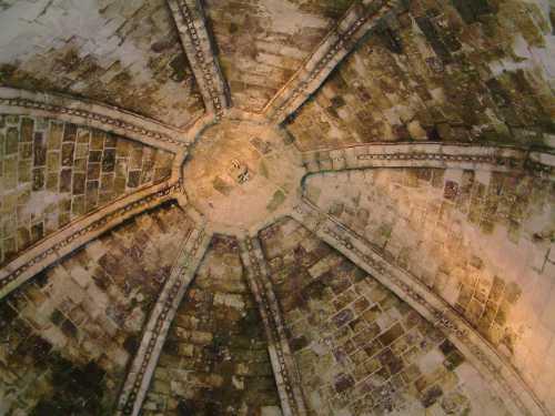 Coupole octogone de la chapelle templière de Laon