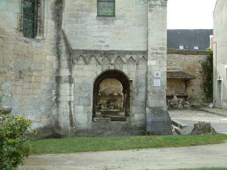 porche de la chapelle templière de Laon