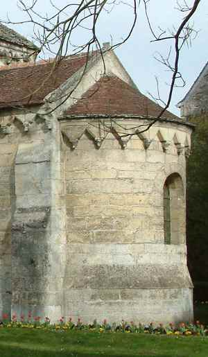 Laon chapelle templière toiture de l'abside