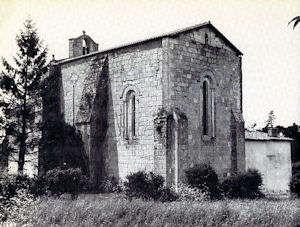 Le Tâtre, chevet et mur sud - Image A-M Legras