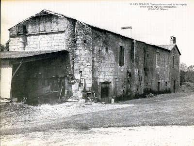 Les Epeaux, vestiges mur nord