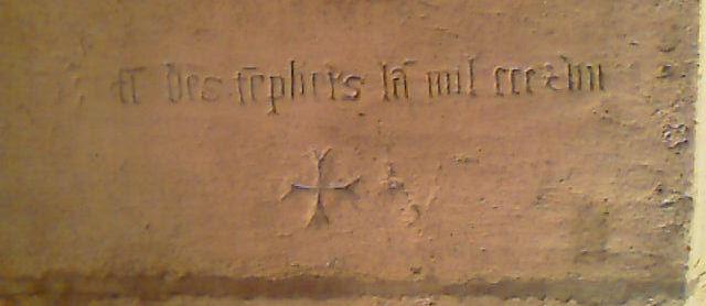 Inscription templière de Pierrevillers