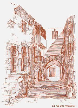 Rue des Templiers à Régusse