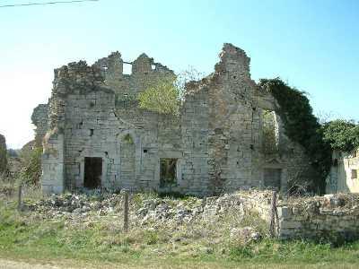 Ruines de la chapelle Saibte-Cécile