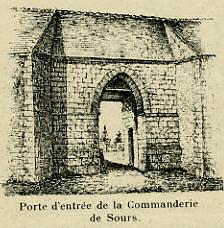 Porte d'entrée de la Commanderie de Sours