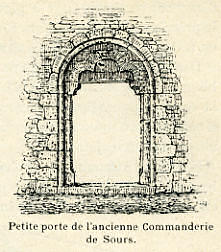Petite porte de l'ancienne Commanderie de Sours