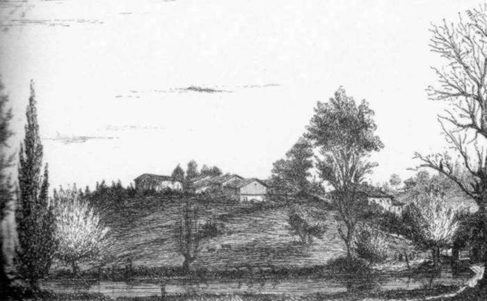 Moulin de Saint-Genis du Bois Gravure de 1855
