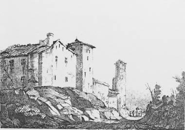 Le Temple-sur-Lot, lithographie de Gintrac 1842