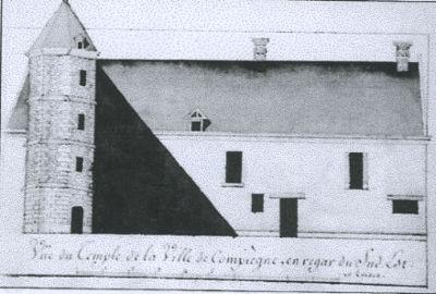 Dessin de la commanderie de 1822, par Jean-Antoine Léré