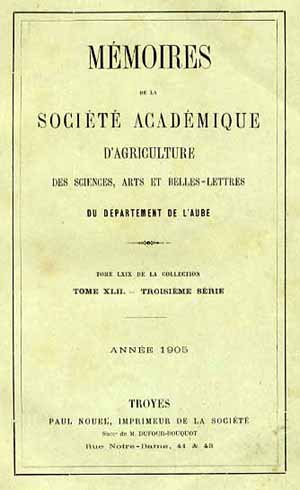 Société Académique d'Agriculture de L'Aube