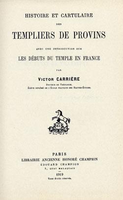 Les débuts de l'Ordre du Temple en France