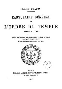 Cartulaire Manuscrit du Temple (1150-1317)