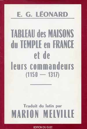 Tableau des Maisons du Temple de France