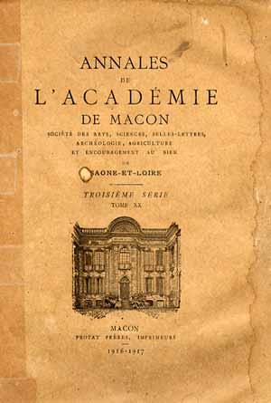 Annales de l'Académie de Macon