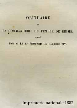 Obituaire de la Commanderie du Temple de Reims