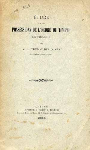 Possessions de l'Ordre du Temple en Picardie