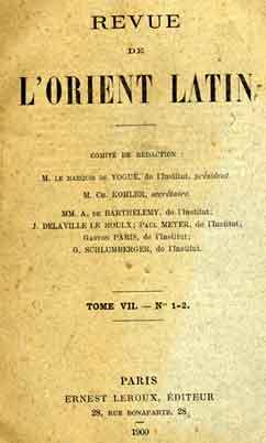 Revue de L'Orient Latin