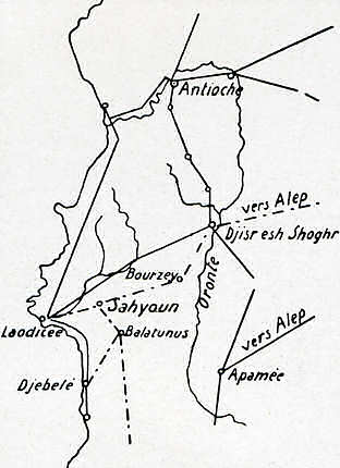 Routes de la région d'antioche