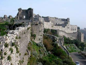 Front latéral ouest du château de Margat