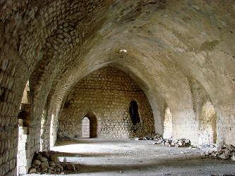 Salle du château de Margat