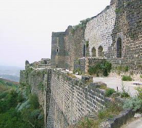 Front Est du château de Margat