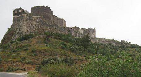 Vue générale du château de Margat