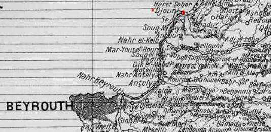 Cap de Djouni frontière du comté de Tripoli