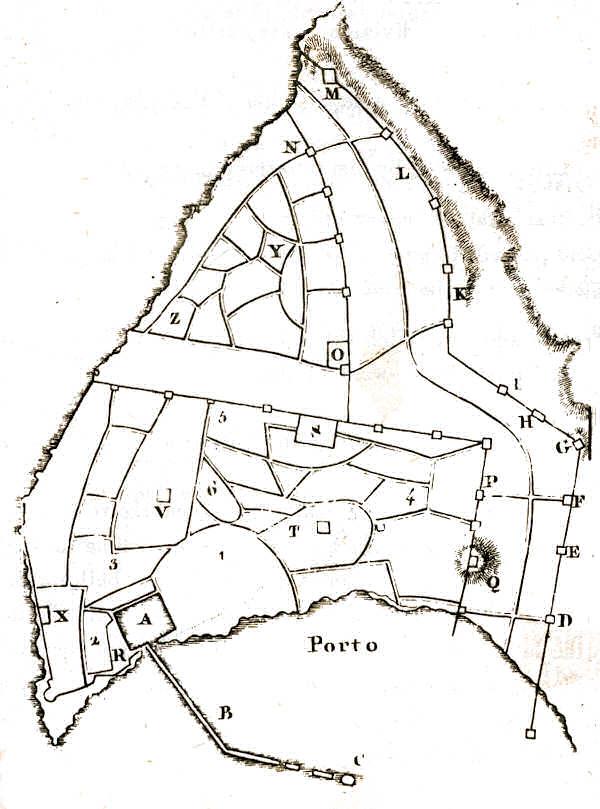 Plan des quartiers de Saint-Jean d'Acre