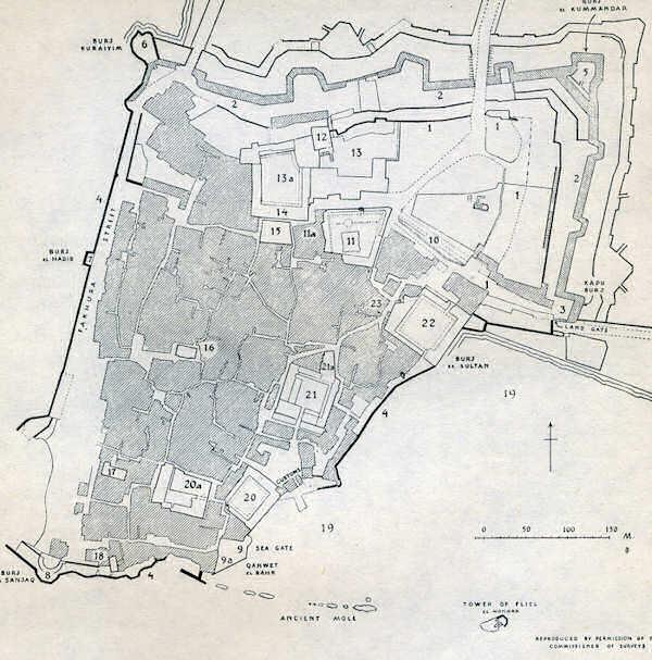 Plan de la vieille ville de Saint-Jean d'Acre
