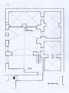 Maison à cour intérieure dans la quartier Génois