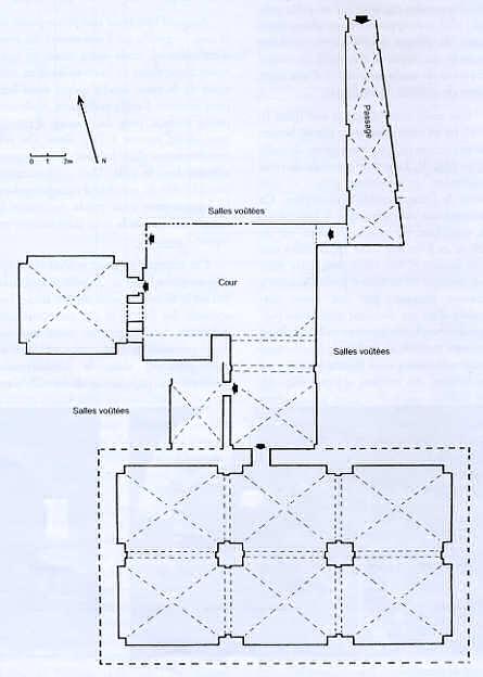 Cour commune d'un groupe de maisons du quartier Génois d'Acre