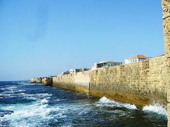 fortifications front de Mer d'Acre Akka Akko