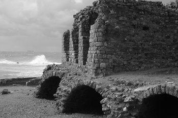 vestiges de fortification d'Acre Akka Akko